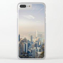 Hongkong Sunset Clear iPhone Case