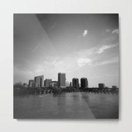 Richmond, Virginia Skyline in Black and White - Film Photograph Metal Print