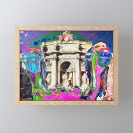 Colorful and powerful Trevi Fountain Framed Mini Art Print