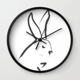 Zen Snow Bunny Wall Clock