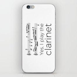 I play the clarinet iPhone Skin