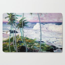 Vintage Tropical Palm Tree Art Cutting Board