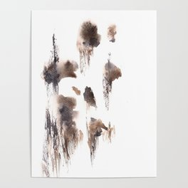 The Shadow Moon - 151124  Abstract Watercolour Poster