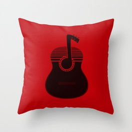 Classical Notes RED Throw Pillow