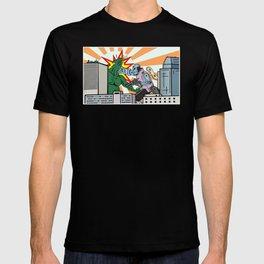 Wind Up Kaiju Fight T-shirt