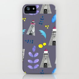 Romantic lighthouse // flowers and lighthouse iPhone Case