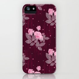 Roses and polka dots. iPhone Case