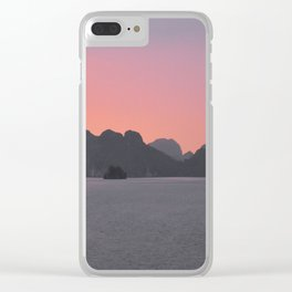 Halong Bay Sunset Clear iPhone Case
