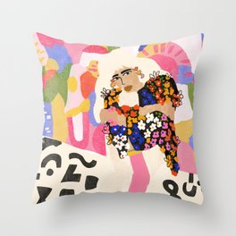 World Full Of Colors Throw Pillow
