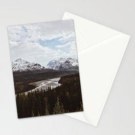 Matanuska River Bend, Alaska Stationery Cards