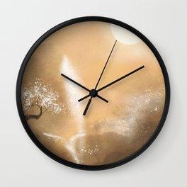 oriental landscapewatercolor art Wall Clock