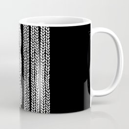 Cable Stripe Black Coffee Mug
