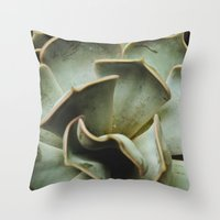 succulent Throw Pillows featuring Succulent by Olivia Joy StClaire