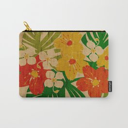 Limahuli Garden Hawaiian Floral Design Carry-All Pouch