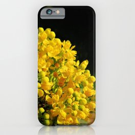 Blooming yellow iPhone Case