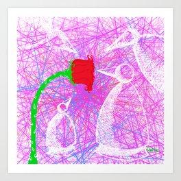 Metaphysical Penguins in Love Art Print