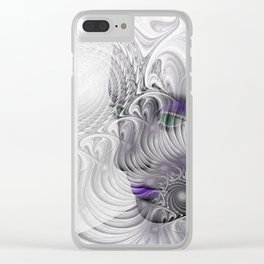 behind the fractal -a- Clear iPhone Case