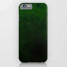 Green with Black iPhone Case
