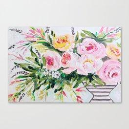 Peony bouquet Canvas Print