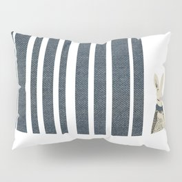 Winter Scene with Rabbit (Chasing the White Rabbit) Pillow Sham