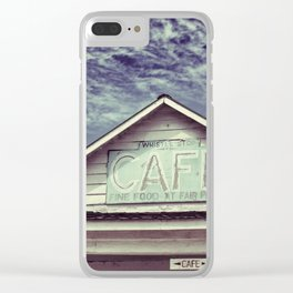 Whistlestop Cafe Clear iPhone Case