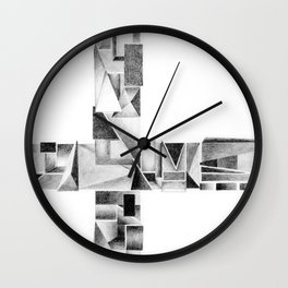 ABSTRACT POLY 2- bird's eye view Wall Clock