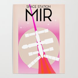 MIR Russian Space Station poster Poster