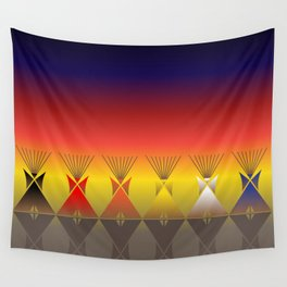 Night Tipi Wall Tapestry