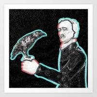 poe Art Prints featuring Poe by Beastie Toyz