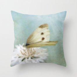 Cabbage White Throw Pillow