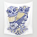 Owls – Navy & Gold by catcoq