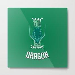 Saint of Dragon Metal Print