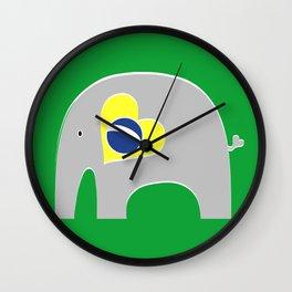 Brazilian Elephant 2 Wall Clock