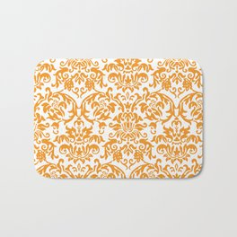 Elegant Damask Pattern (orange) Bath Mat