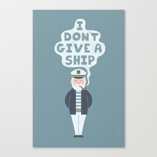 Indifferent Captain Canvas Print