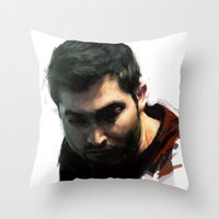 derek hale Throw Pillows featuring Derek by @cuisle