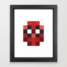 hero pixel red blue Framed Art Print