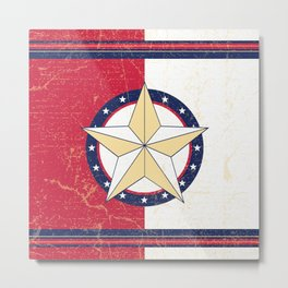 Americana Texas Star Metal Print