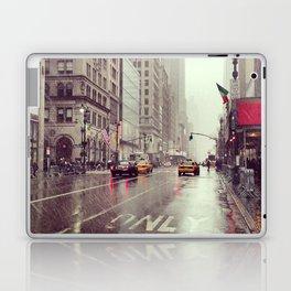 nyc street rain Laptop & iPad Skin