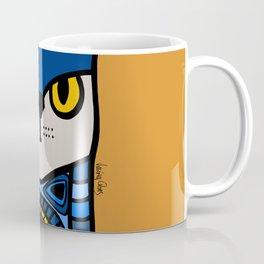 Nine Lives of a Cat in Orange Coffee Mug