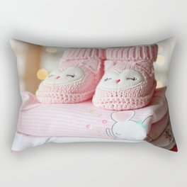 It's a Girl! / Baby Booties & Clothes Rectangular Pillow