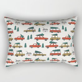 Christmas tradition christmas tree car drive home winter holidays Rectangular Pillow