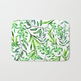 Fresh leavy botanical Bath Mat