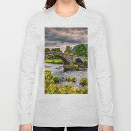 Llanrwst Bridge Autumn Long Sleeve T-shirt