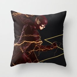 The Flash triptych FLASH Throw Pillow