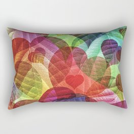 Heart Shaped Leaves Rectangular Pillow