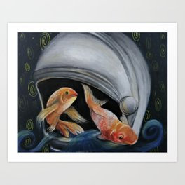Space Fish Art Print