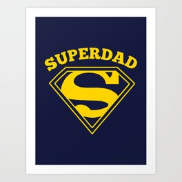 Superdad | Superhero Dad Gift Art Print