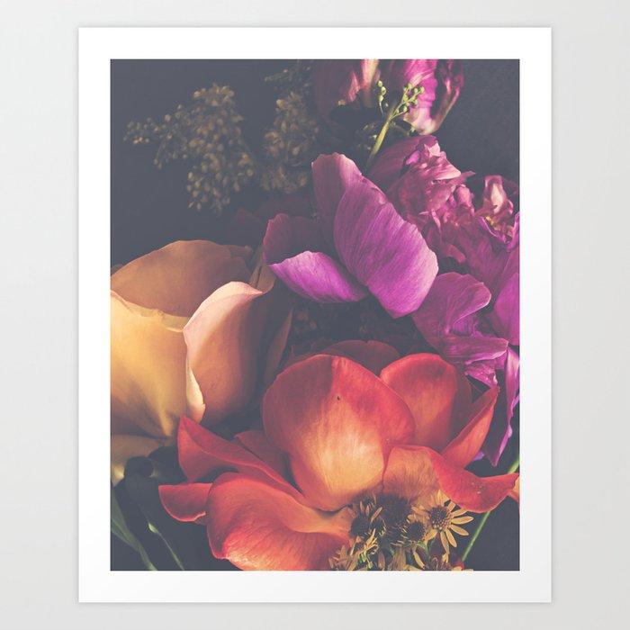 Color Burst Florals Art Print