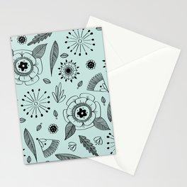Flora Pattern II Dark on Light Stationery Cards